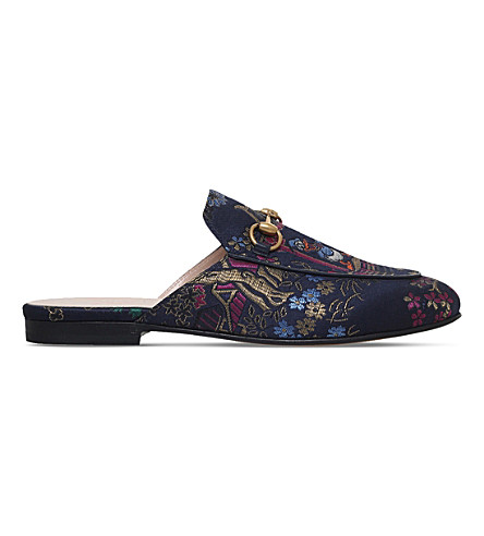 GUCCI Princetown Donald Duck jacquard slippers (Navy