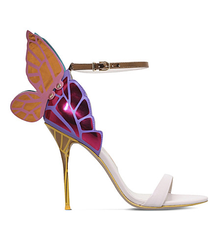 SOPHIA WEBSTER Chiara winged leather sandals (Beige+oth