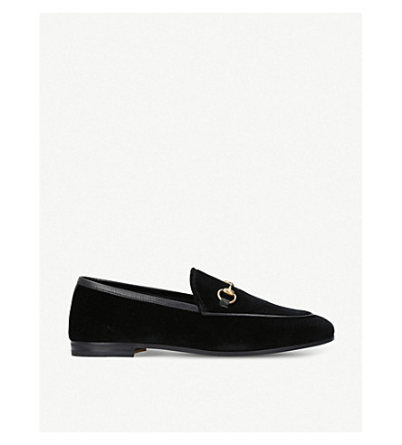 GUCCI Jordaan velvet loafers (Black