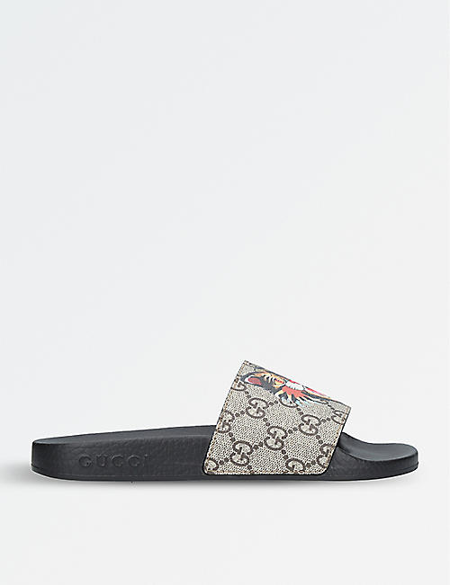 gucci shoes price list. gucci pursuit cat-print canvas slider sandals gucci shoes price list