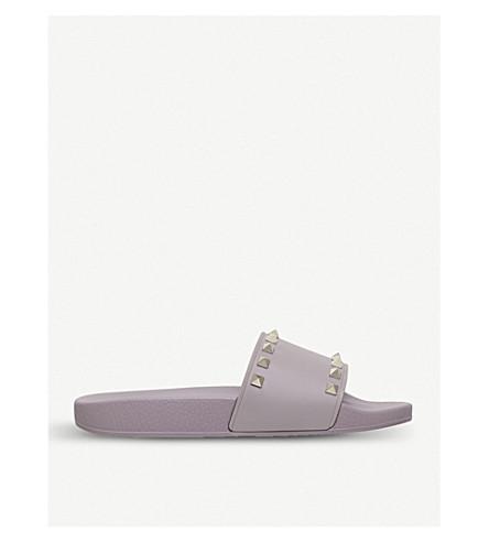 Rockstud rubber slider sandals