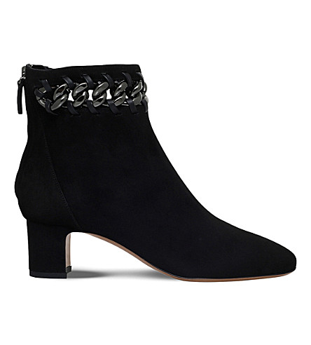 VALENTINO Metal weave suede ankle boots (Black