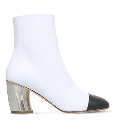 PROENZA SCHOULER Mirrored-heel leather ankle boots (White/blk