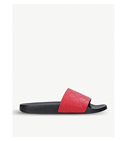 GUCCI Pursuit rubber sliders (Red/other