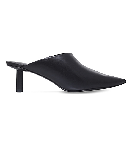 STELLA LUNA Cigarette leather mules (Black