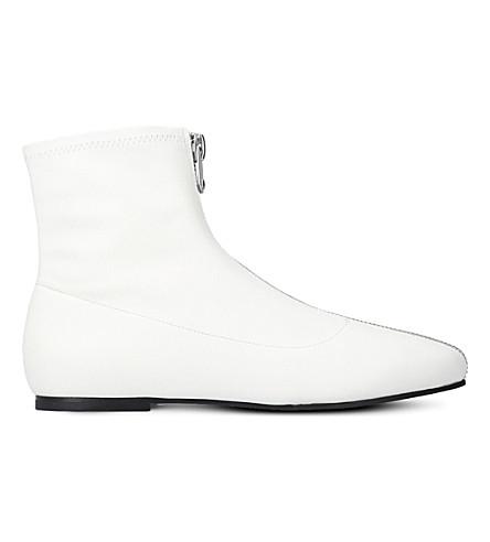 STELLA LUNA Zipper leather ankle boots (Winter+wht
