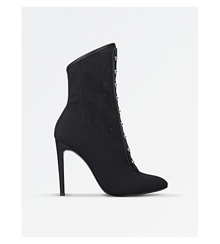 GIUSEPPE ZANOTTI Bustier mesh heeled boots (Black
