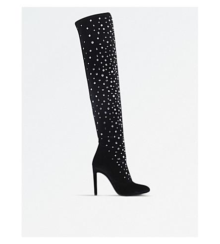 GIUSEPPE ZANOTTI Scatter velvet over-the-knee boots (Black