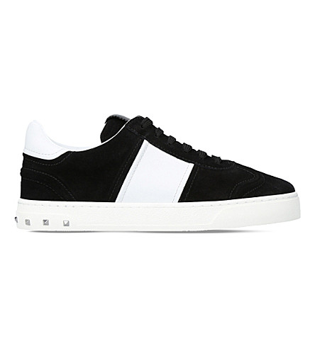 VALENTINO Fly Crew suede trainers (Blk/white
