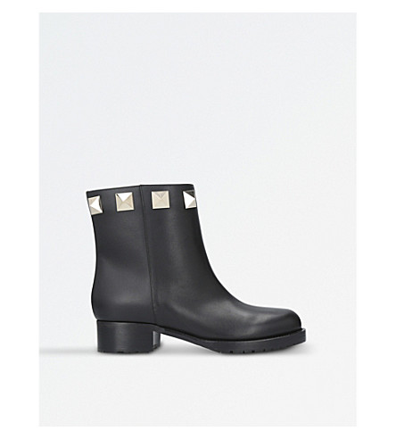 VALENTINO Lock leather ankle boots (Black