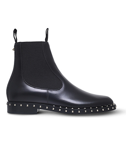 VALENTINO Soul studded leather Chelsea boots (Black