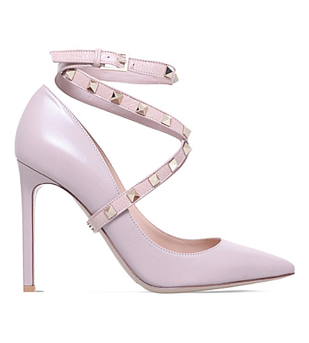 VALENTINO Studwrap 105 皮革宫廷鞋 (裸