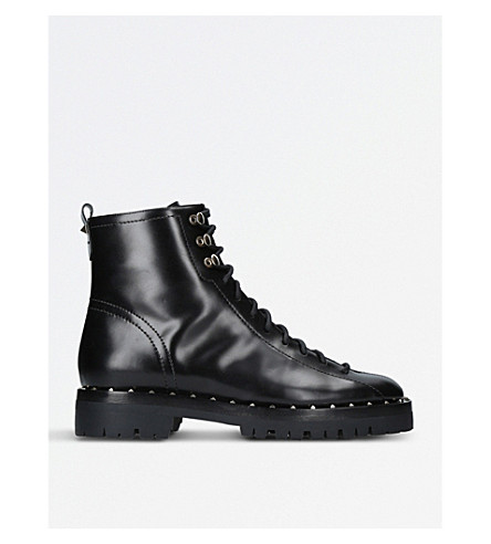 VALENTINO Soul studded leather Combat boots (Black