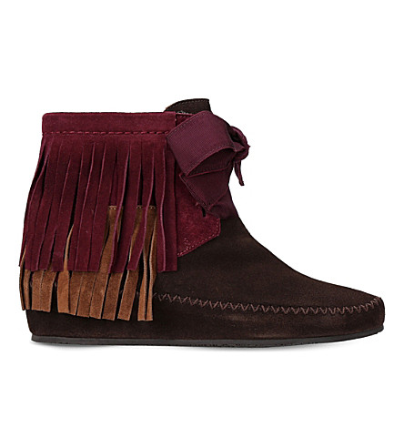 ETRO Fringe suede ankle boots (Brown/oth
