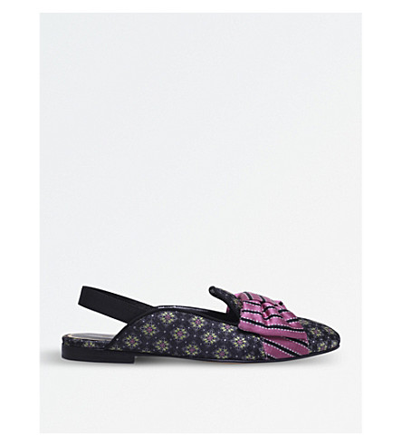 ETRO Floral jacquard textile slippers (Blk/other