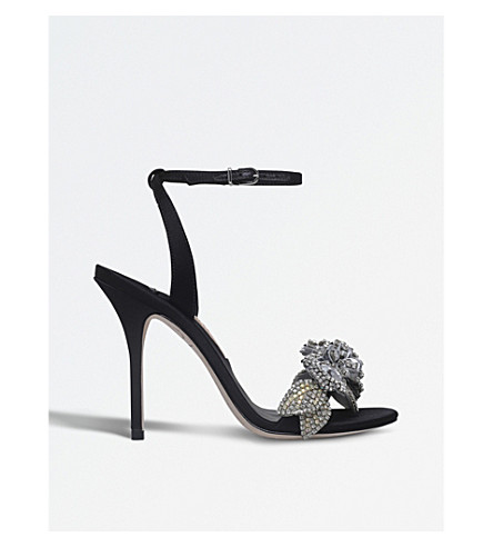 SOPHIA WEBSTER Lilico satin heeled sandals (Black