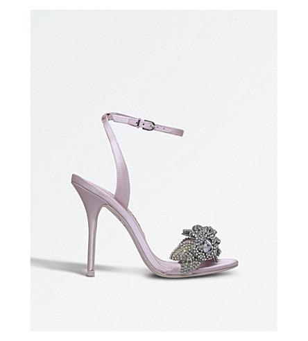 SOPHIA WEBSTER Lilico 缎布跟凉鞋 (苍白 + 粉红色