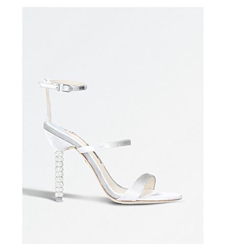 SOPHIA WEBSTER Rosalind crystal-embellished velvet sandals (Silver