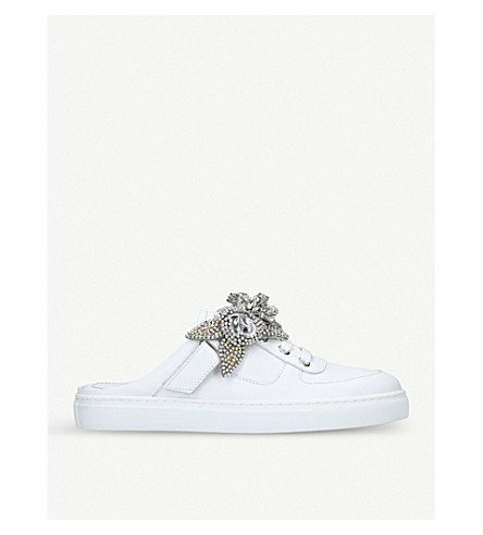 SOPHIA WEBSTER Lilico Jessie crystal mule sneaker (White/comb