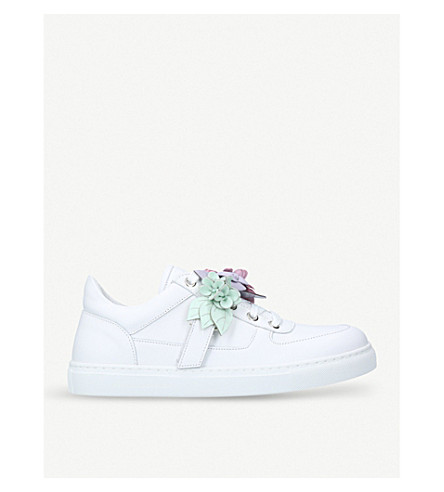 SOPHIA WEBSTER Lilico low-top leather trainers (White/comb