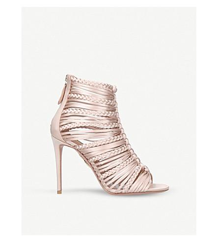 AQUAZZURA Goddess 105 satin heeled sandals (Pale+pink