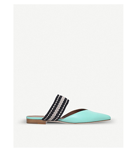 MALONE SOULIERS Hannah leather flats (Turquoise