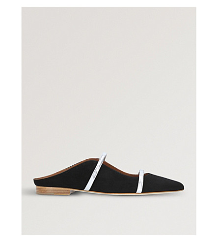 MALONE SOULIERS Maureen velvet flats (Blk/other