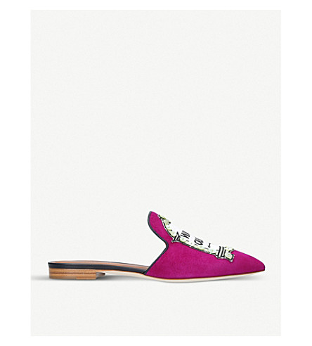 MALONE SOULIERS Marianne Way Out suede mules (Wine