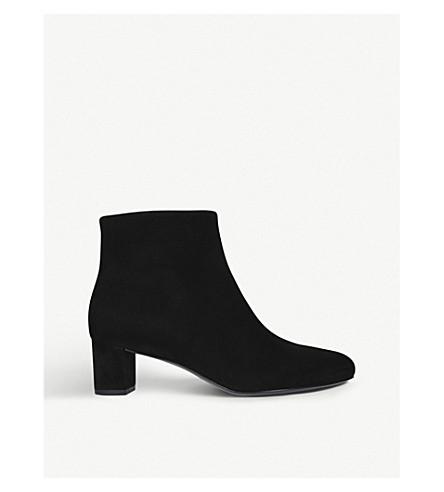 STELLA LUNA Architect velvet ankle boots (Black