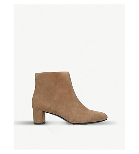 STELLA LUNA Architect velvet ankle boots (Camel