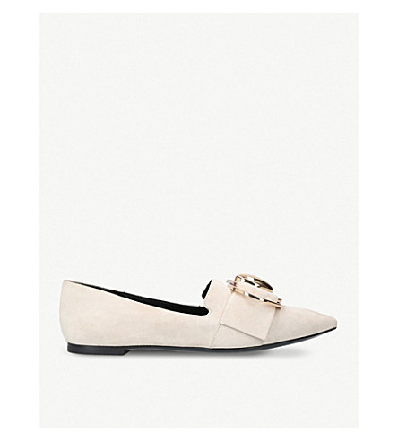 STELLA LUNA Double-ring suede loafers (Grey/light
