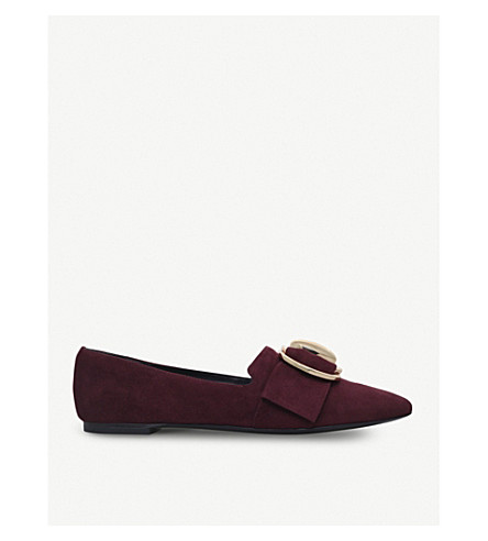 STELLA LUNA Double-ring suede loafers (Wine