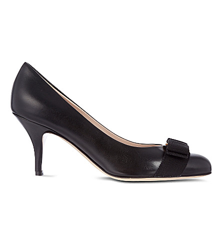 FERRAGAMO Carla 70 court shoes (Black