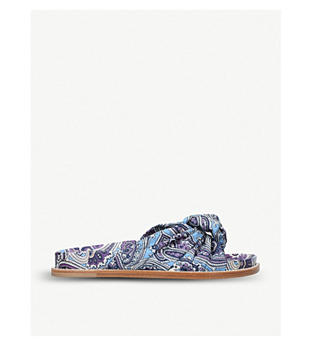 ETRO Knotted front paisley sliders (Blue+other