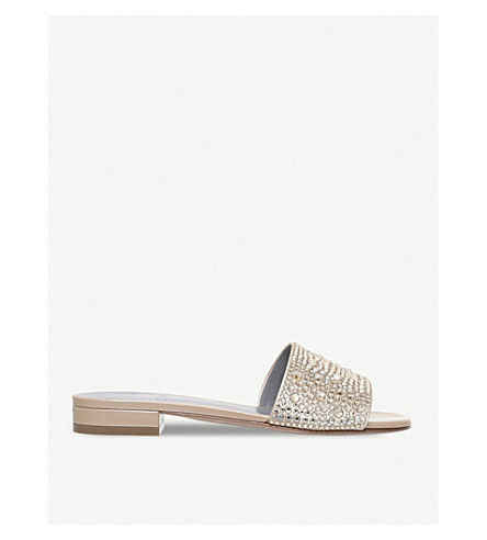 GINA Giverny embellished sandals (Cream