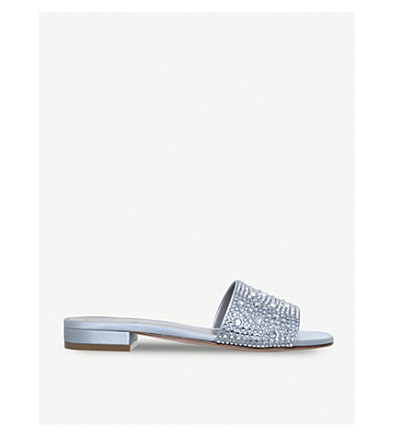 GINA Giverny embellished sandals (Pale+blue