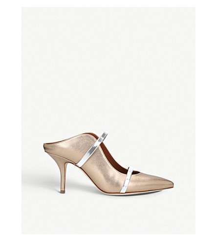 MALONE SOULIERS Maureen 70 leather mules (Silver