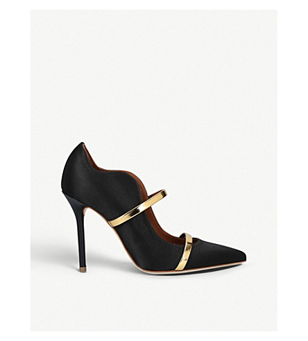 MALONE SOULIERS Maureen 100 nubuck court shoes (Black/comb