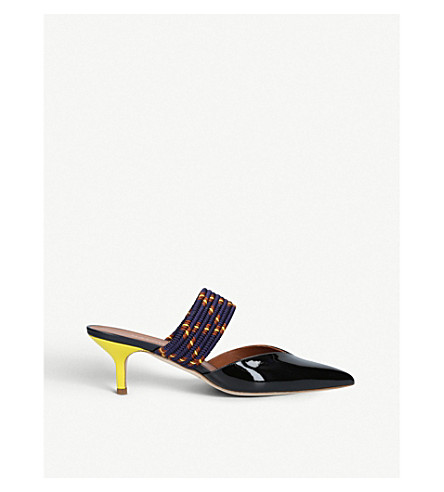 MALONE SOULIERS Maisie 7 patent leather mules (Black