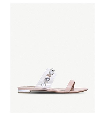 AQUAZZURA Galaxy leather sandals (Pale+pink