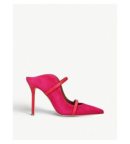 MALONE SOULIERS莫林 100-169 皮革穆勒鞋 (红色/其他