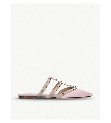 VALENTINO Rockstud leather mules (Pale+pink