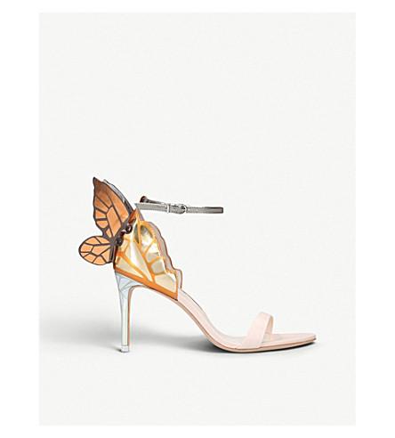 SOPHIA WEBSTER Chiara appliquéd 金属皮革凉鞋 (裸