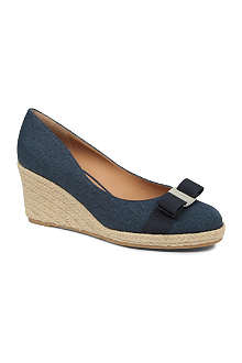 FERRAGAMO Darly canvas wedge courts