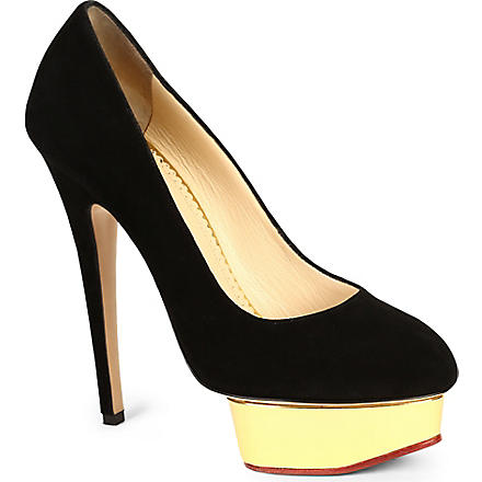 CHARLOTTE OLYMPIA Dolly leather courts (Blk/other