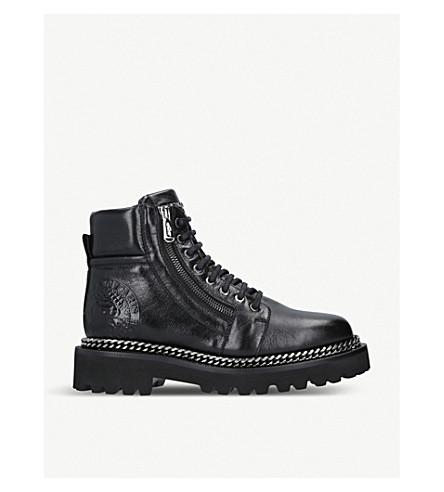 BALMAIN 链条革军靴子 (黑色