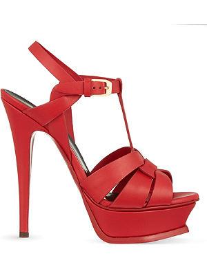 SAINT LAURENT Tribute Sand 105 heeled sandals