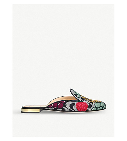 CHARLOTTE OLYMPIA Fruit Salad embroidered mules (Mult/other