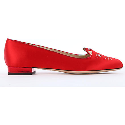CHARLOTTE OLYMPIA Kitty pumps (Red/other