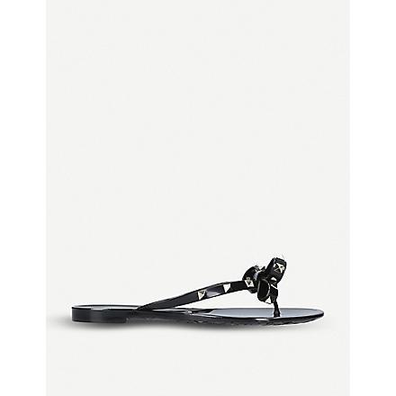 VALENTINO Rockstud leather heels (Black